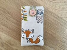 Handmade iPhone 5 5S 5C SE Padded Case Made Using Fryett's Woodland Fox Fabric