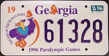 Original Nummernschild USA Georgia 1996 Olympics plaque d'immatriculation Targa
