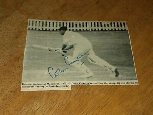 Colin Cowdrey England Test Cricketer Signed Magazine Photo