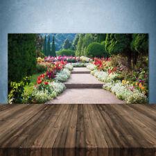 Küchenrückwand aus Glas ESG Spritzschutz 140x70cm Treppen Garten Natur