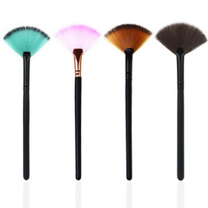 Colorful Fan Shaped Makeup Cosmetic Brush Highlighter Contour Face Powder Brush