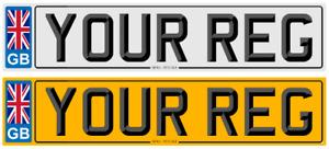 PAIR 100% LEGAL CAR REGISTRATION NUMBER PLATES 3D FONT BORDER GB PREMIUM ACRYLIC