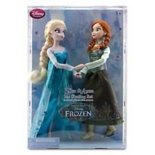 "Disney Store Frozen 12"" Elsa & Anna Ice Skating Classic Doll Set Barbie Princess"