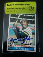 Manny Sanguillen 1979 Topps #447 Signed Autographed Pirates Beckett BAS