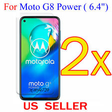 2x Clear LCD Screen Protector Guard Cover Film For Motorola Moto G8 Power (2020)