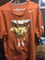 Nike University Of Texas XL Orange Just Do It Tshirt Mens Bevo UT Longhorns