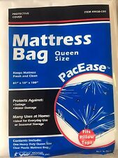 MATTRESS COVER QUEEN SIZE BAG ALLERGY PROTECTOR FITS PILLOW TOP.