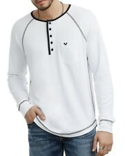 TRUE RELIGION MEN'S LONG SLEEVE HENLEY T-SHIRT