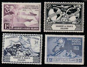 Gilbert & Ellis   1949   Sc # 56-59   UPU   MLH   (2022-2)
