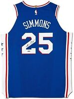 EN SIMMONS Autographed 76ers Authentic Nike Away Blue Jersey UDA