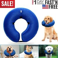 Inflatable Collar Dog Cat Soft E-Collar Pet Puppy Medical Protection Head Cone #