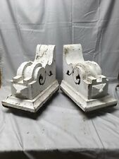 Antique 1890s Pair Wood Corbels Victorian Architectural Shelf Brackets 71-17B