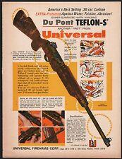 1969 UNIVERSAL Firearms .30 Carbine DuPont Teflon-S Coating PRINT AD Advertising