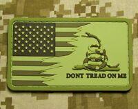 AMERICAN USA US FLAG DON'T TREAD ON ME SNAKE 3D PVC DESERT VELCRO® BRAND PATCH