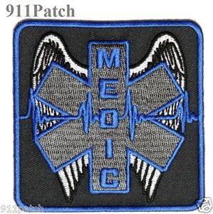 Winged Medic EMT EMS Paramedic Rescue 1st Responder Firefighter Police Patch