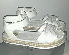 GLAM Sandales tissu blanc logo semelle corde modele naomi CALVIN KLEIN T 29