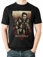 Riverdale Poster Official Southside serpents Mens Black T-shirt