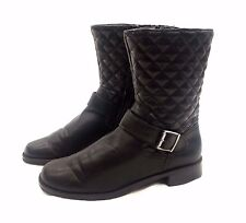 8819a855d2c Aerosoles Women s Quilted Black Low Heel Boots Size 9