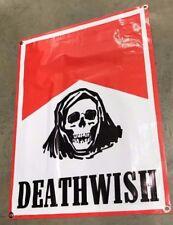 Death wish skateboards deck hoodie ripper skull poster red banner sign grip B91