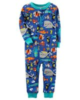 Carter's Boys Footless Pajamas Sea Life Zip Closure NWT 12 Months 2T 3T 4T 5T
