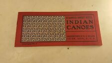 Antique Circa 1900's Indian Canoes W.H.Mullins Salem Ohio Catalog No. 7* EARLY