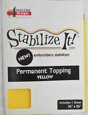 STABALIZE IT EMBROIDERY STABALIZER.  PERMANENT TOPPING YELLOW ADS-PT01