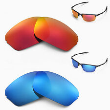 New Walleva Polarized Fire Red + Ice Blue Lenses For Oakley Half Wire 2.0