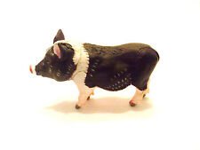 RARE Kaiyodo Takara Choco Q Pet Animal 5 Black White Pot bellied Pig Figure B