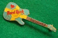 HRC Hard Rock Cafe Stockholm Flag Colored Fender Guitar Peace + Heart LE750