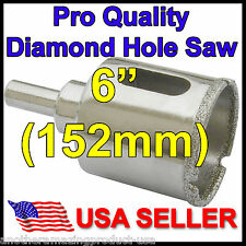 6 inch Diamond Hole Saw Porcelain Ceramic Tile Granite Glass Rock Stone Concrete