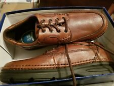 Nunn Bush Men's Cameron Brown Tumbled Leather Oxford Shoes work casual gel heel