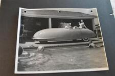 Vintage Photo Pretty Girl on RARE 1948 Davis Divan 3 Wheel Car 892016