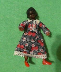 Vintage German CaCo Dollhouse Doll - Vintage CaCo Black Girl Child Doll