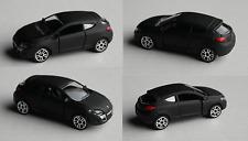 Majorette Renault Megane Coupe mattschwarz PKW Auto Car Spielzeugauto Black Noir