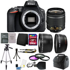 Nikon D5600 24.2 MP Digital SLR Camera with 18-55mm Lens + 64GB Accessory Kit
