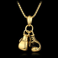 Stainless Steel Chain Boxing Glove Pendant Necklace High Quality Necklace