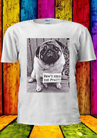 Don't Feed The Pug Funny Dog Cute T-shirt Vest Tank Top Men Women Unisex 1440