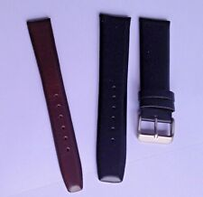 Black Brown Mens Lady Superstrap GENUINE LEATHER THICK padded Watch Strap Band5*