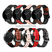 Hybrid Rubber Sport Leather Watch Band Strap For Moto 360 2nd Gen 46mm Wristband