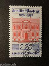 FRANCE 1987, timbre 2496, 100° INSTITUT PASTEUR, oblitéré CACHET ROND, VF STAMP