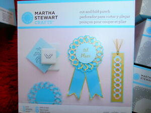 Martha Stewart cut and fold punch - cove- new