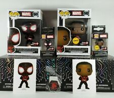 Funko POP CHASE Gamer Spider-Man Miles Morales Box SET Marvel GameStop Exclusive