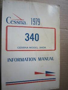 Cessna model 340A information manual 1979 pb`