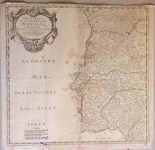 PORTUGAL.  Mapa original de Sanson d'Abbeville, 1704.