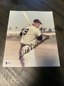 Ted Williams Boston Red Sox Autographed 8x10 Photo Beckett LOA