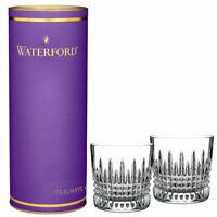 Waterford Crystal Lismore Giftology Diamond Tumbler DOF Pair 12 oz 40016056 New