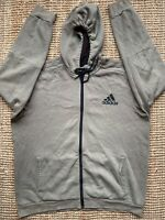 MENS ADIDAS OLIVE GREEN HOODED FULL ZIP TOP JACKET SIZE XL