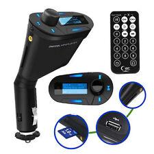 Blue LCD Wireless FM Radio Transmitter USB SD Modulator MMC Remote for Most Car