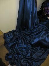"1 M NAVY BLUE DRESS SATIN FABRIC..58""  WIDE"