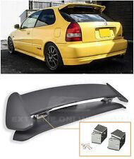 Type R Rear Spoiler w/ Adjustable Alex Tilt Brackets For 96-00 Civic Hatchback